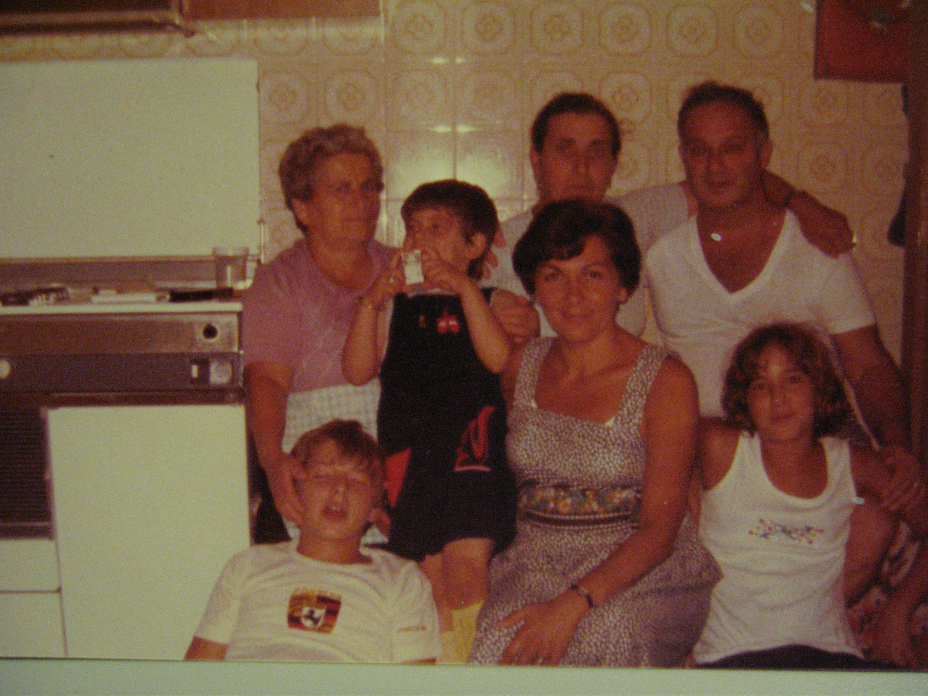 Helen with Vince Sr. Anthony and Rosemarie and cousins in Felitto, Italy