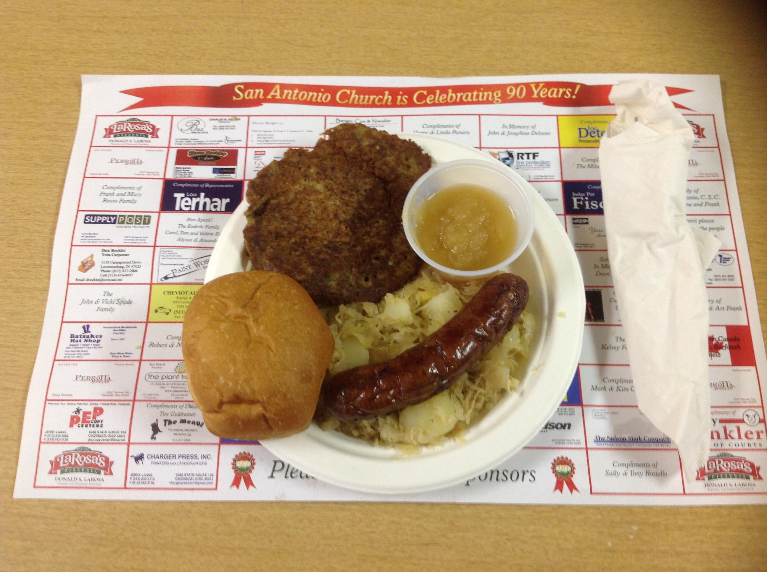LOH 2013-10-08 Sausage Sauerkraut Potato Pancakes