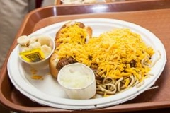 LOH 2013-09-10 Chili, spaghetti, cheese and a three-way cheese coney