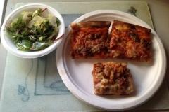 LOH 2015-02-24 Pizza salad desert pizza