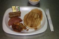 LOH 2015-05-12 Pancakes quiche ham sausage
