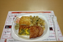 LOH 2016-06-14 Fritatta ham steak hash browns biscuit