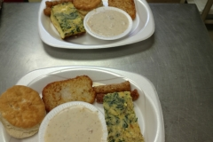 LOH 2016-07-12 quiche biscuits  gravy hashbrowns