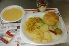 LOH 2017-02-14 cheeseburger mac n cheese chips broccolli soup sundae-2